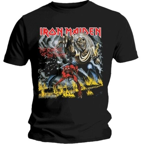 Official IRON MAIDEN Number Of The Beast T-shirt Black Sizes S to XXL Eddie