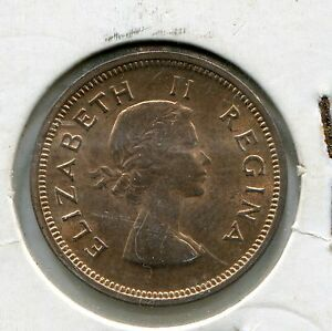 South-Africa-1957-1-4-Penny-Coin-KM44-UNC