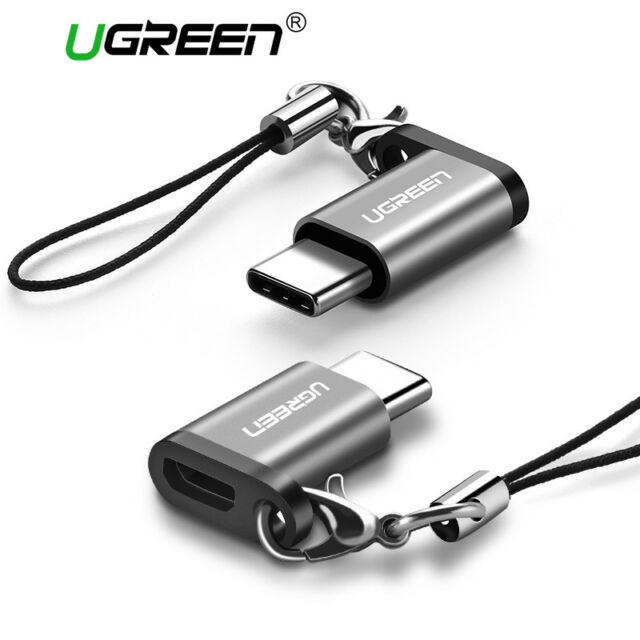 1pcs Aluminum Usb-c To Micro Usb Adapter Keychain Type-c To Micro Usb Connector Computer & Office