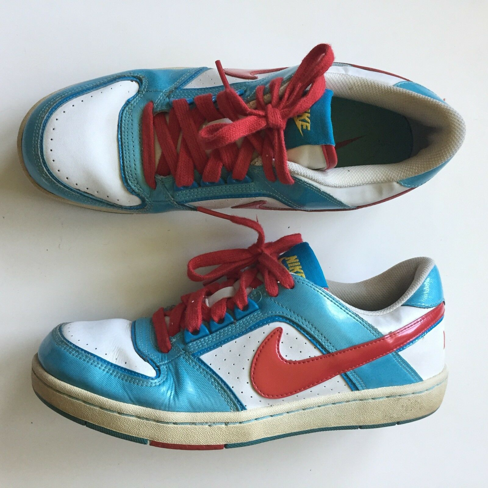 Nike Womens Athletic Sneakers 8.5 Red White Blue Retro 365950 Comfortable and good-looking