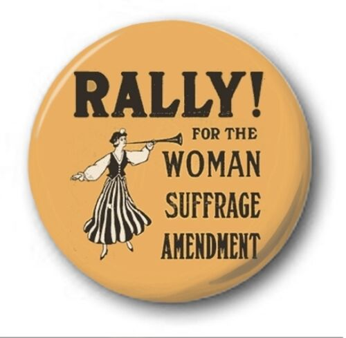 "25mm Button Badge 1/"" Novelty Suffragette Women FEMINISM"