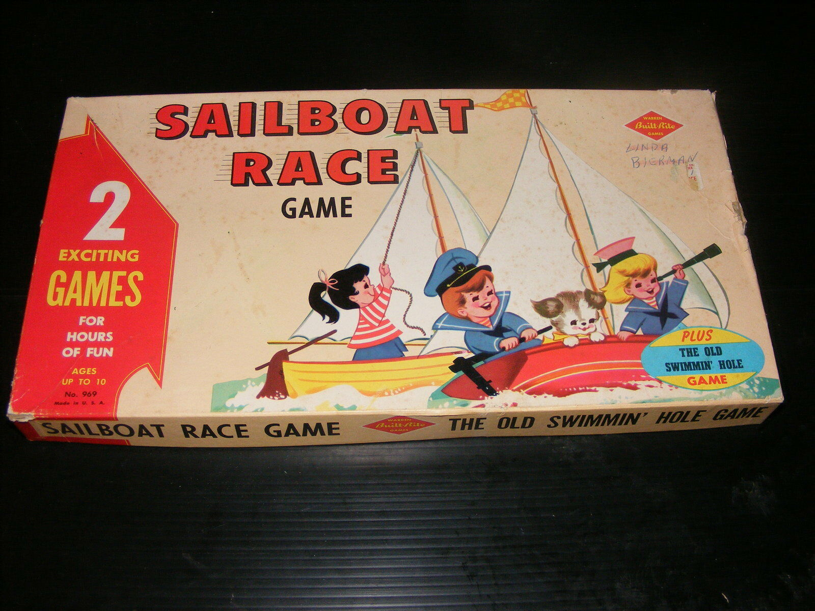 Vintage Sailboat Race Game & The Old Swimmin' Hole Game