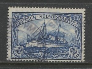 1911 German colonies SOUTH WEST AFRICA 2 Mark Yacht used, -SWAKOPMUND- signed