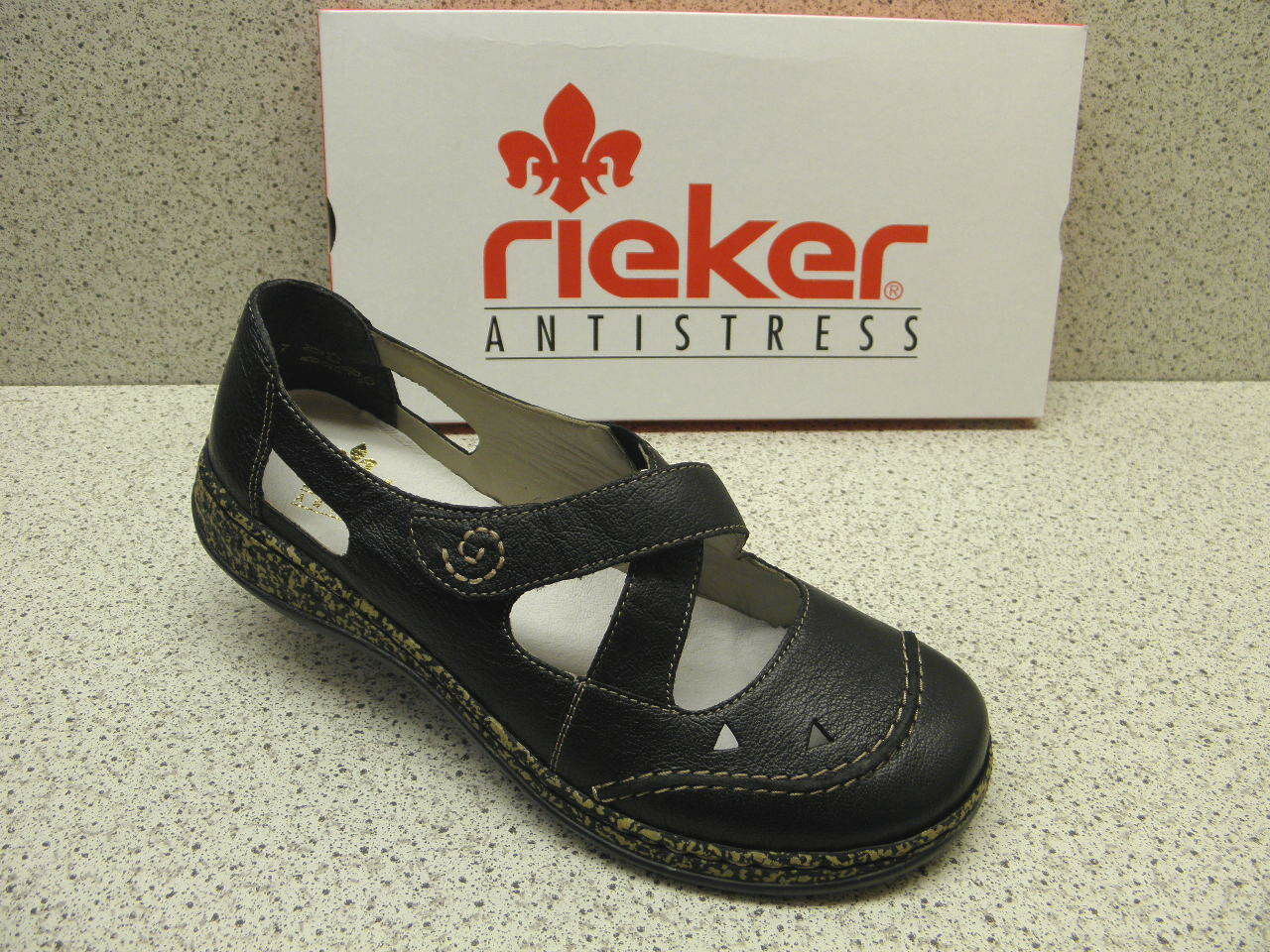 Rieker®   ROTuziert  Slipper schwarz superbequem  Rieker® 46335-00 (R335) 5c6631