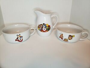 3pc 1999 Kelloggs Bowls And Pitcher
