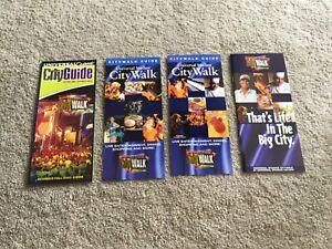 Universal-Studios-Florida-Orlando-City-Walk-Guides-and-Brochures-Mint-Condition