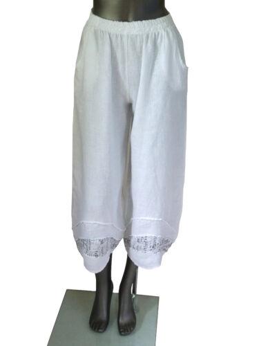 44 42 de Italia 7 38 cortos Pantalones 40 48 8 Pantalones lino 46 Pantalones Lagenlook wPvqIv