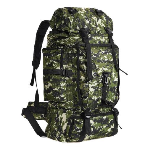 100L Military Tactical Backpack Outdoor Rucksack  Waterproof Shoulders   @new