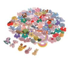 CheeseandU 100Pcs Slime Charms Cute Mixed Candy Sweet Unicorn Cloud Rainbow Resin Flatback Slime Beads Making Supplies for DIY Craft Making Ornament Scrapbooking Phone Case DIY
