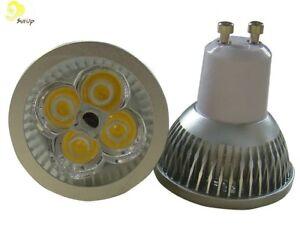 10 x lampada faretto gu10 spot luce fredda 4w power led gu 10 casa