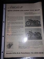 Prospektblatt Amsler Leichtmotorrad 98 cm Sachs Motor Feuerthalen Technisches