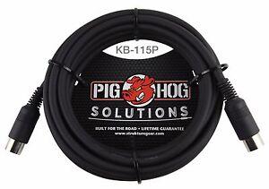 15ft Pig Hog DIN-5 MIDI Male/Male, KB-115P