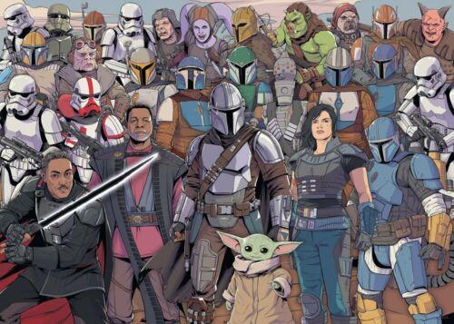 Grogu Charaktere 1000 Teile Puzzle Star Wars Mandalorian Baby Yoda
