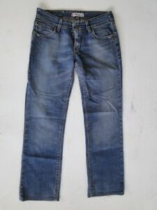 Hose L34 Damen 570 Levis Straight Stonewashed Jeans Fit W30 Blau l1JFK3Tc