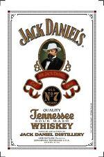 Jack Daniels Portrait Motiv 2 Nostalgie Barspiegel Spiegel Bar Mirror 22 x 32 cm