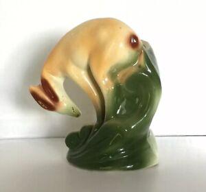 Vintage-Deer-Planter-Vase-Ceramic-Pottery-Figurine-Unmarked
