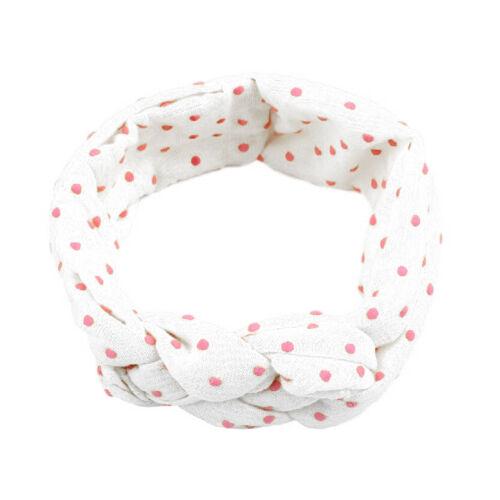 Toddler Girls Baby Kids Turban Knotted Headband Hair Band Dots Elastic Headwear