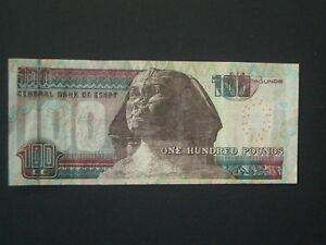 """*** Décent ** """"gvf 'egypte £ 100 ** 2000 Central Bank Of Egypt ** Billet-afficher Le Titre D'origine"""