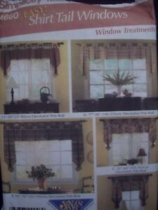 Image Is Loading Window Treatments Shirt Tail Simplicity Home Decor Pattern
