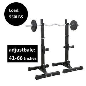 Pair-of-Adjustable-Rack-Sturdy-Steel-Squat-Barbell-Bench-Press-Stands-GYM-HOME