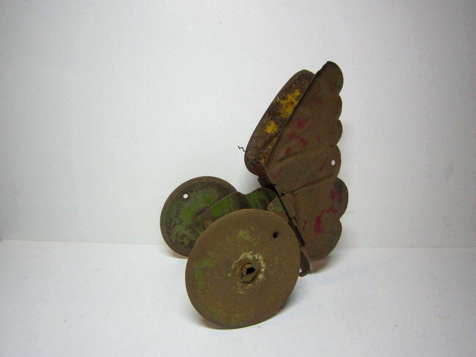 Gammal antik, sällsynt sovjetisk metall - leksaks - rullfjäril 30.Storlek 90X190 mm.