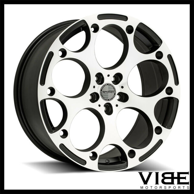 "19"" SPORZA ZERO 19X8.5 BLACK CONCAVE WHEELS RIMS FITS"