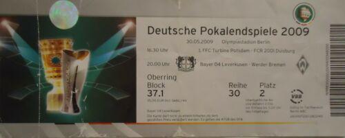 TICKET DFB Pokal Finale 2009 Bayer Leverkusen Werder Bremen