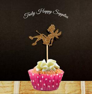Das Bild Wird Geladen Fee Sitzt Cupcake Topper 6 Oder 12 29