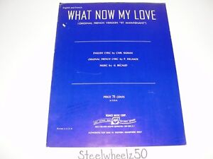 Details about What Now My Love 1962 Sheet Music English French Sigman