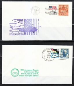 United-States-1989-May-4-amp-May-8-covers-39th-amp-40th-Aerospace-Rescue-Helicopter