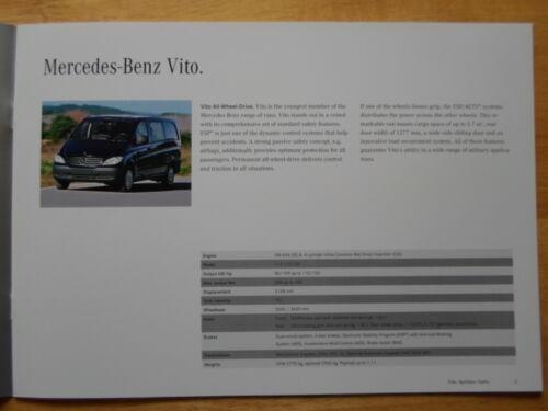 MERCEDES Vito Sprinter /& Vario RARA 2008 veicoli militari opuscolo