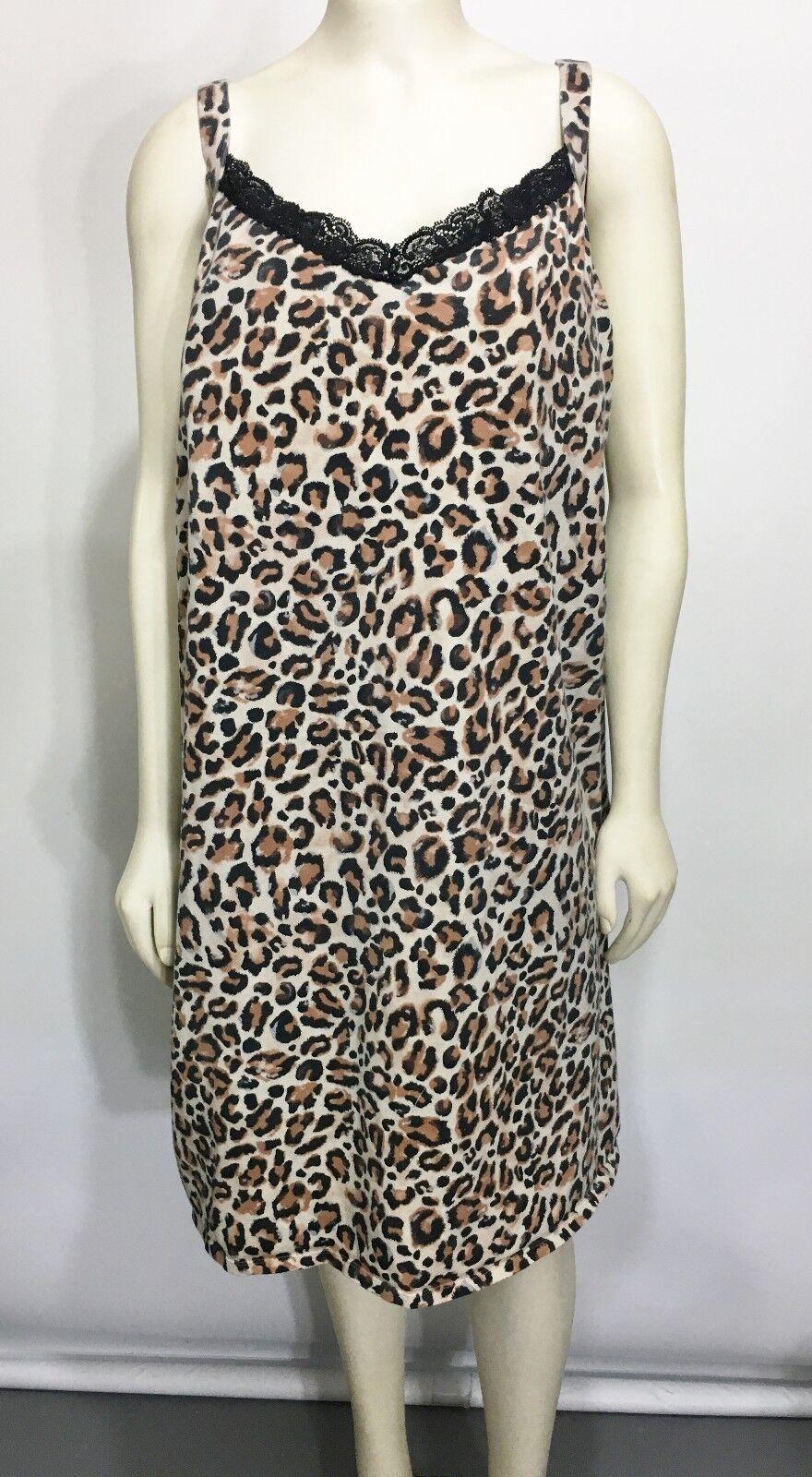 Smart Sexy Curvy Womens 4X Animal Leopard Print Sleeveless Dress Built-In Bra