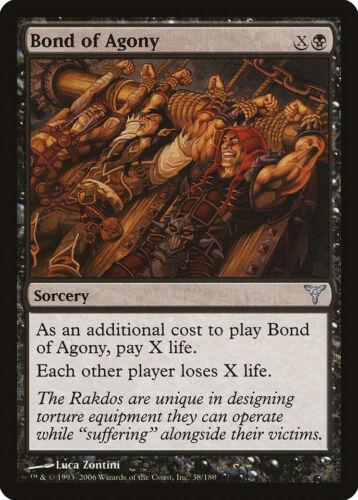 Bond of Agony Dissension PLD Black Uncommon MAGIC THE GATHERING CARD ABUGames
