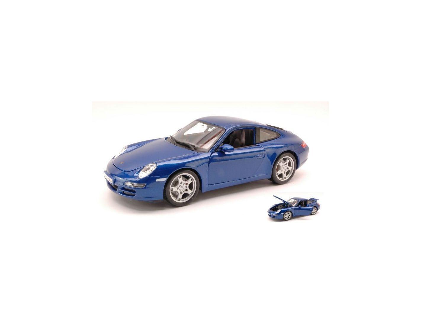 Maisto MI31692 PORSCHE 911 CARRERA S 997 2005 METALLIC blueE 1 18 Modellino