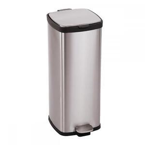 Image Is Loading BestOffice 8 Gallon 30L Step Stainless Steel Trash