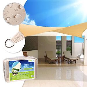 sonnensegel sonnendach uv schutz hitzeschutz wasserabweisend quadrat dreieck set ebay. Black Bedroom Furniture Sets. Home Design Ideas