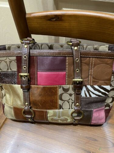 coach patchwork tote - image 1