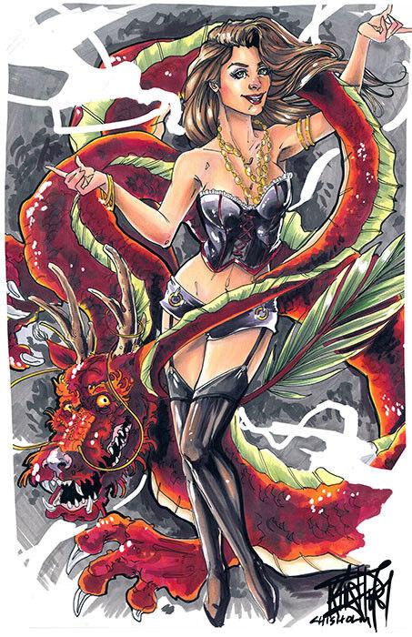Brandneu Lowbrow Kunst Company Dragons Leinen Giclee Aufdrücke Made in USA