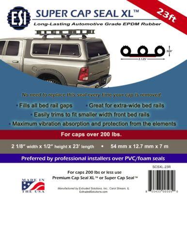Topper Super Cap Seal XL™ 23ft EPDM Rubber for Pickup Truck Cap Camper Shell