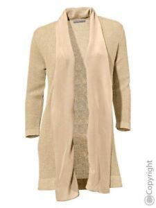 Brooke Sand Designer or En Soie Ashley Cardigan Womens Cardigan Nouveau Couleur Avec 4OEqzw