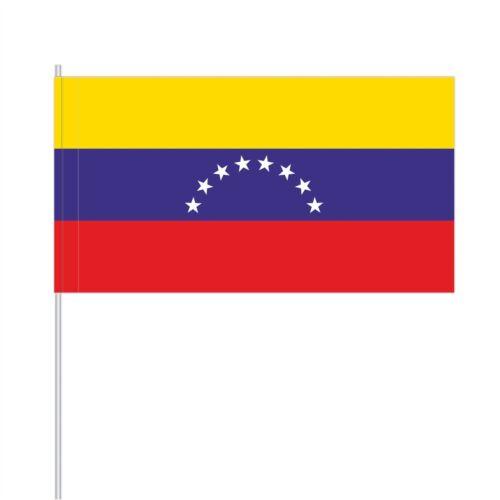 Flaggen PFS-VEN 10 Papierfähnchen//Papierfahnen Venezuela