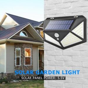 Lampada-Solare-100-LED-Sensore-di-Movimento-Esterno-Proiettori-Faretto