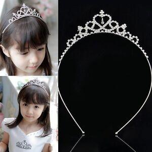 Image is loading Girls-Kids-Bridal-Bridemaid-Princess-Crystal-bling-Hair- db14cb54813f