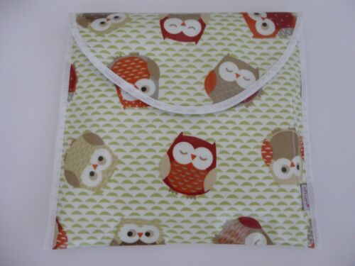Shower Gift Nursery BNWT Fully Lined BabyTravel Nappy Pouch /'Owl/' Oilcloth
