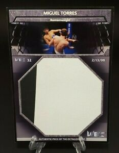 2011 Topps UFC Title Shot Fight Mat Relics Box Topper Miguel Torres - WEC 32