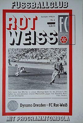Dynamo Dresden Programm 1978//79 Rot Weiß Erfurt