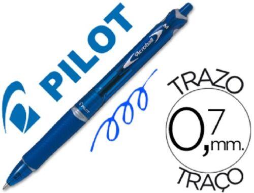 LOTE - 3 PILOT ACROBALL - PUNTA DE BOLA 1 mm  / trazo de 0,7 mm -  COLOR:AZUL