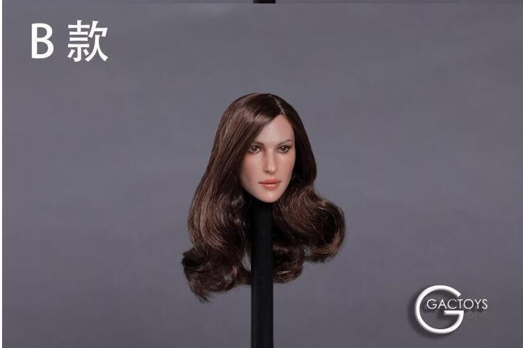 1 6 American Female Head Sculpt GC020 C For 12  PHICEN Hot Toys Figure B