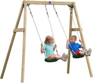 Marvelous Image Is Loading Kids Outdoor Swing Set Wooden Children Garden Games