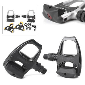 Road-Bike-PD-R540-SPD-SL-Pedal-Clipless-Racing-Pedals-Float-Cleats-Cycling-Pair